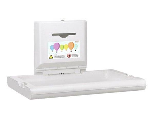 Mediclinics Babyverschoontafel Horizontaal | Wit | Opklapbaar Model | 860x570x(H)480mm(Open)