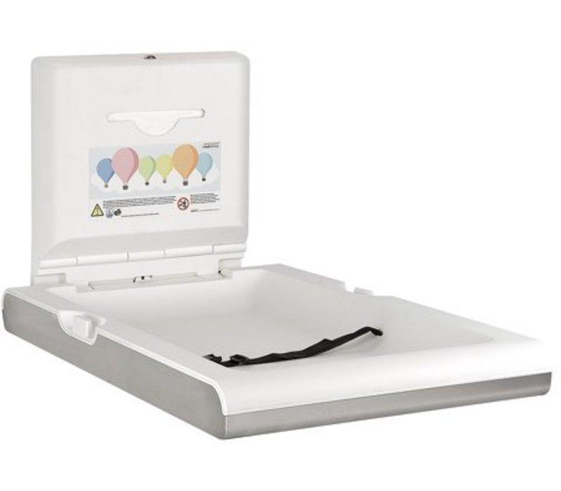 Mediclinics Babyverschoontafel Verticaal | RVS | Opklapbaar Model | 550x890x(H)480mm(Open)