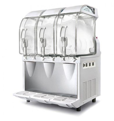 MEC Slush Ijs Machine | 3x11 Liter Capaciteit | 1420W | 600x580x(H)870mm