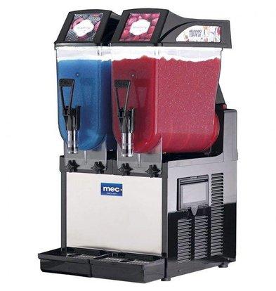 MEC Slush IJs Machine | Slush Puppy | 2x12 Liter Capaciteit | 1050W | 390x510x(H)820mm