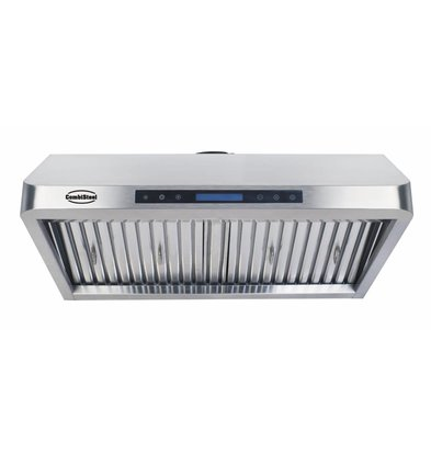 Combisteel Cooker Hood Complete Model Stainless steel 430 | 3 Filters 1200x560x250mm | 1530m³ p / h