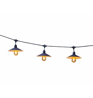 Lumisky Vinty Snoerverlichting   10 Lampen   6 Meter Lang