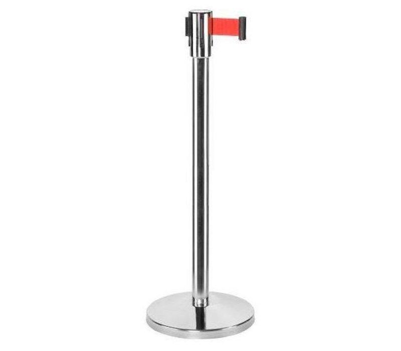 Saro Afzetpaal Chroom 9 kg - met Rood trekband 180cm