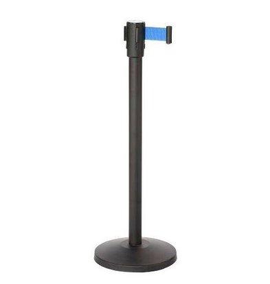 Saro Afzetpaal Zwart 9 kg - met Blauw trekband 180cm