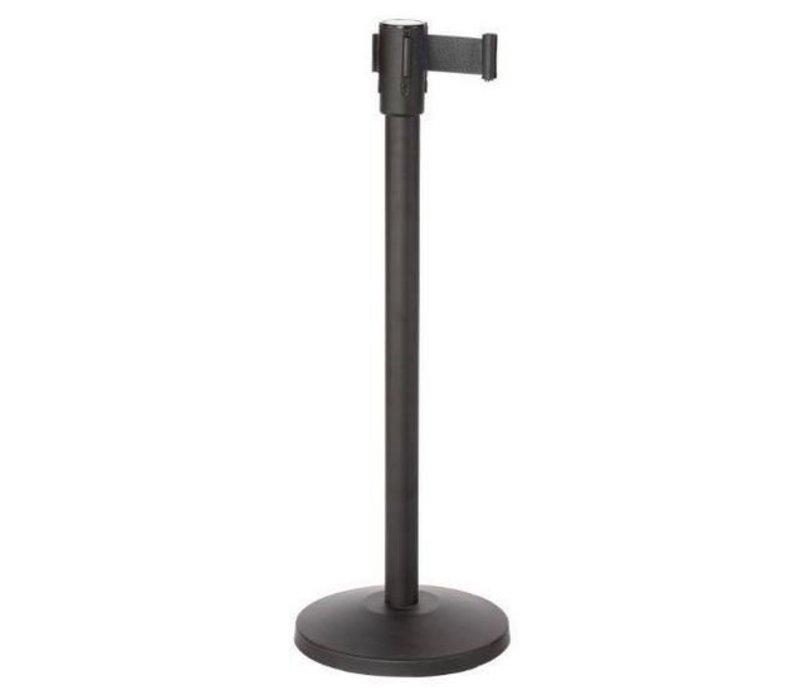 Saro Afzetpaal Zwart 9 kg - met zwart trekband 180cm