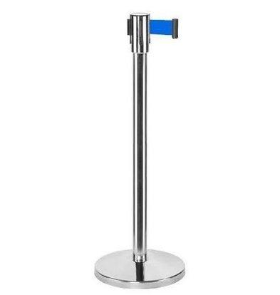 Saro Afzetpaal Chroom 9 kg - met Blauw trekband 180cm