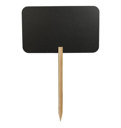 Securit Silhouette Rectangle Chalkboard on stick - Includes 1 Chalk Stift