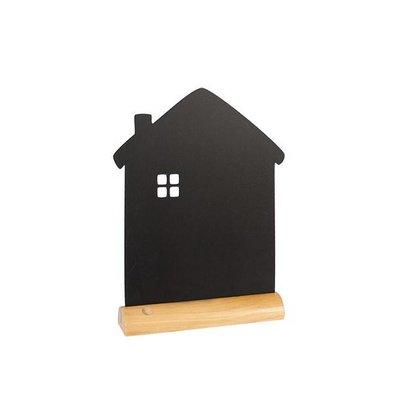 Securit Tafelkrijtbord Wood Silhouet Huis Incl. Krijtstift