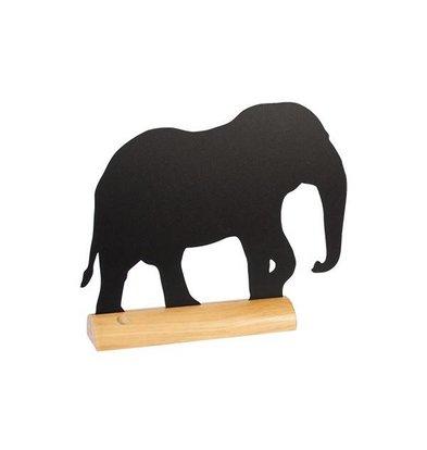 Securit Tafelkrijtbord Wood Silhouet Olifant Incl. Krijtstift