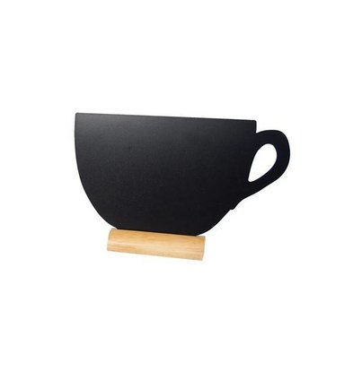 Securit Chalkboard Table Wood Silhouette Cup Incl. Chalk Stift
