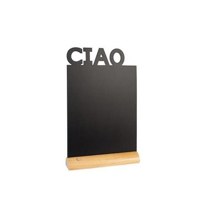 Securit Chalkboard Table Wood Silhouette Ciao Incl. Chalk Stift