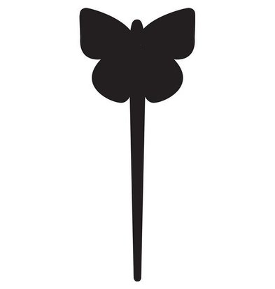 Securit Tag Silhouette Butterfly 5 x - Incl 1 Chalk Stift