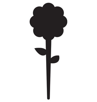 Securit Tag Silhouette Flower 5x - Incl 1 Chalk Stift