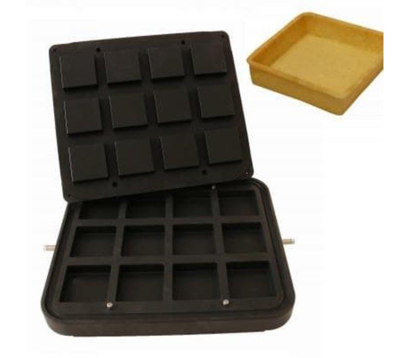 ICB 12x Square Brick | 72x72mm | 19mm Hoog
