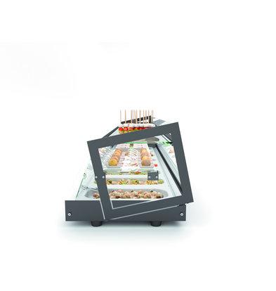 SAYL Opzetkoelvitrine met Glazen Opbouw   Geschikt voor 1/3GN 40mm   Beschikbaar in 3 Maten