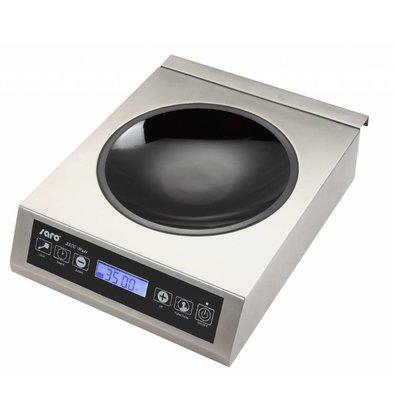 Saro Inductie wok digitaal incl wokpan - 34x44,5x(h)11,5 - 3500W/230V