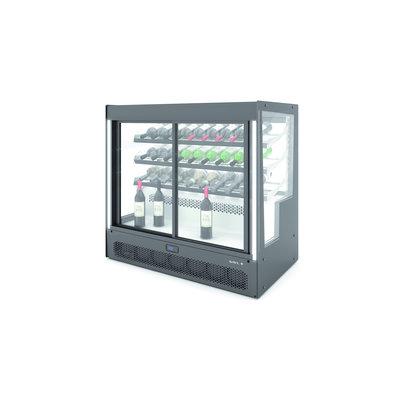 SAYL Compak Wijn Koelvitrine   Opening aan de Achterzijde en Voorzijde   1015x620x(H)950mm