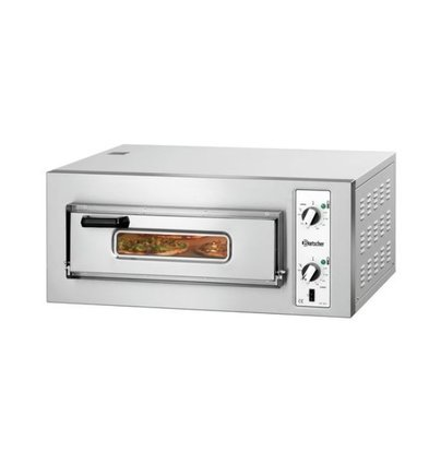 Bartscher Pizza Oven Electric Single | 4 Pizzas 25cm | 400V | 4kW | 800x735x (H) 375mm