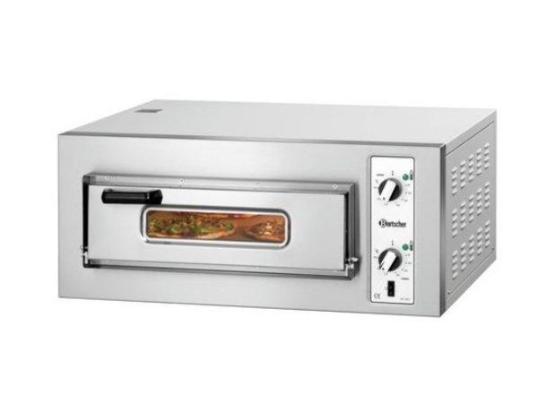 Bartscher Pizza Oven Enkel Elektrisch | 4 Pizza's 25cm | 400V | 4kW | 800x750x(H)360mm