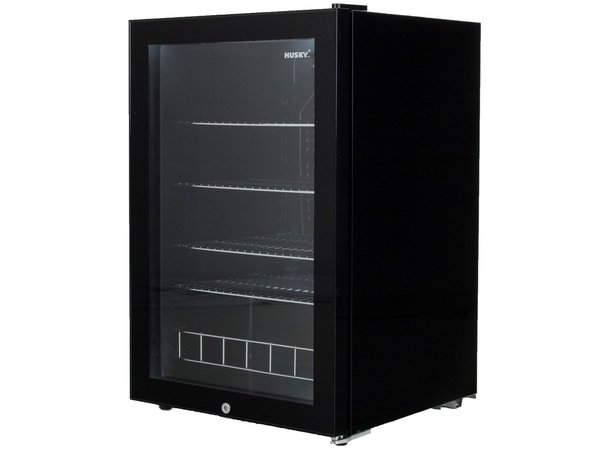 Husky Barkoelkast Glasdeur | Zwart  Stalen Frame | 122 Liter | 540x540x845(h)mm