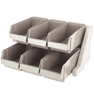 Cambro Cutlery holder with 6 Removable Bins - Dishwasher safe - 511x488x (h) 241mm
