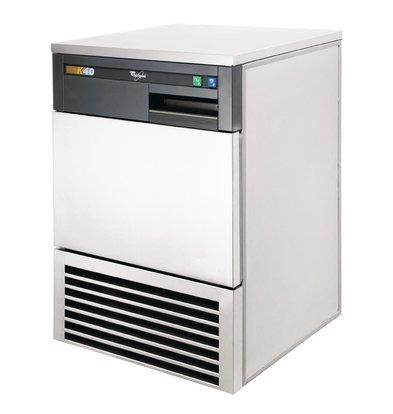 Whirlpool Rvs Ijsblokjes machine 40kg/24h | AGB024 | Volle Ijsblokken | 556x535x(H)850mm