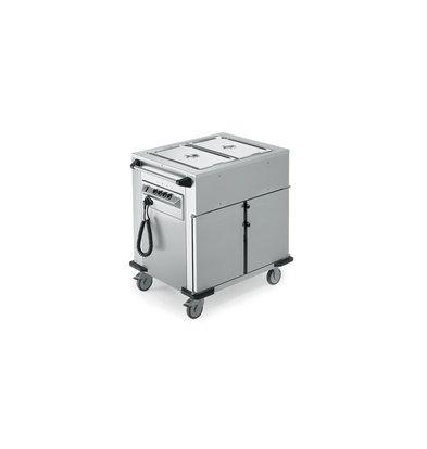Rieber Voedseltransportwagen | Verwarmde Kast | Extra Warmhoudbakken Boven | Beschikbaar in 2 maten