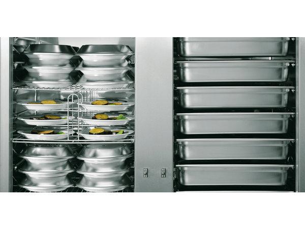 Rieber Banketwagen 1 x 2/1 GN verwarmd | 2250W | 777x837x(H)1712mm | Geschikt voor 11 of 18 GN2/1 Roosters