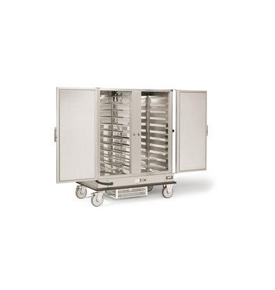 Rieber Dubbele Banketwagen 2 x 2/1 GN Gekoeld | 600W | 1487x843x(H)1755mm | Geschikt voor 2x 11 GN2/1 Roosters