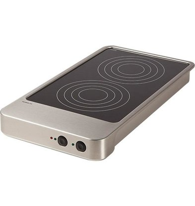 Rieber Varithek Inductiekookplaat | 3600W | 1/1GN 2 kookplaten | 325x642x180mm