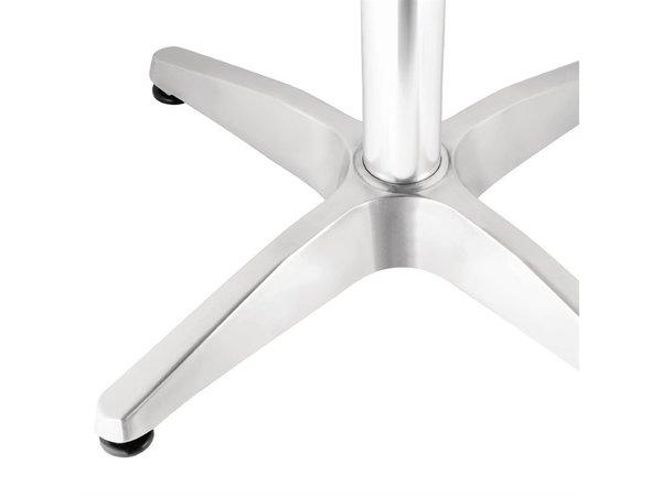 Bolero Terrastafel Vierkant - Aluminium Frame - RVS Bovenblad - 72(H)x70x70cm