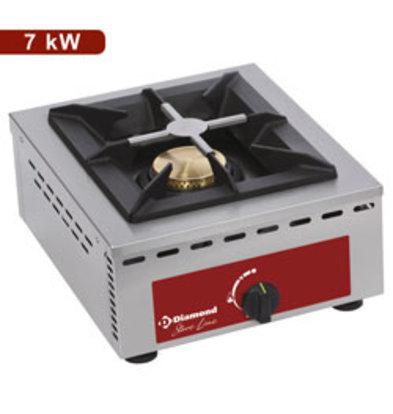 Diamond Gas Kooktoestel | Tafelmodel | 7 kW | 370x510x(H)195mm