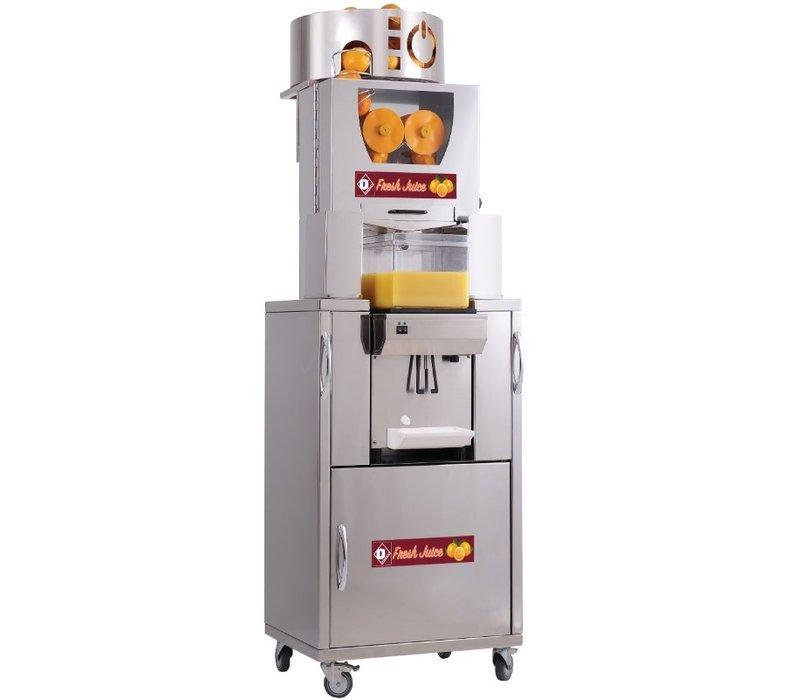Diamond Automatische Citruspers | Gekoeld | 20/25 Sinaasappelen (maximale diameter 80 mm) Per Minuut