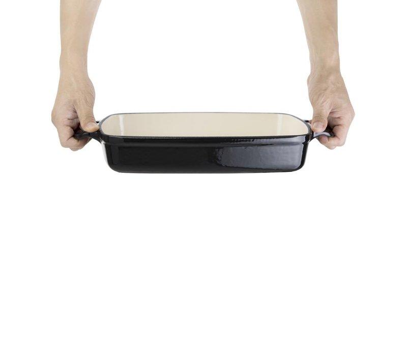 Vogue Rechthoekige Ovenschaal Zwart | 2,8 Liter | 390x235x(H)55mm