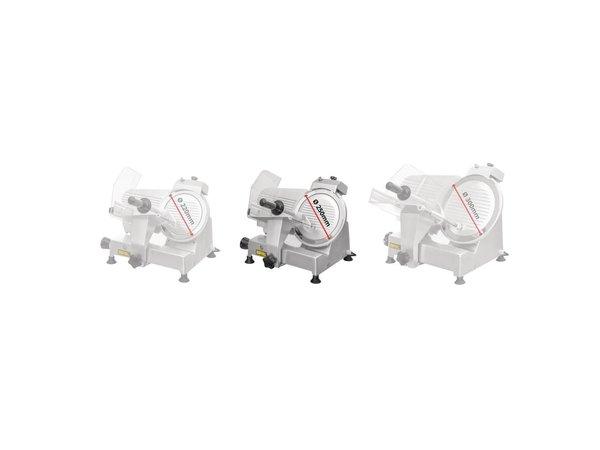 Buffalo Vleessnijmachine Aluminium | Geïntegreerde Messenslijper | 25cm Mes