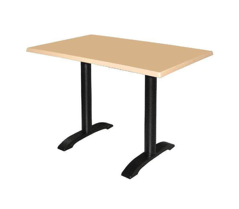 Bolero Dubbele Tafelpoot Gietijzer - Universeel - Hoog 72cm - tafelbladen tot 700x1100mm