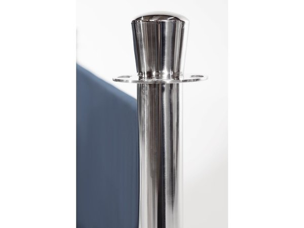 Bolero Afzetpaal Chroom | Vlakke Knop | Betonnen Voet | 950(h)mm