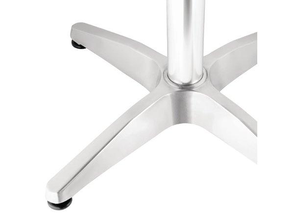 Bolero Horeca Tafel - Aluminium Frame - RVS Bovenblad - 72(H)x60x60cm