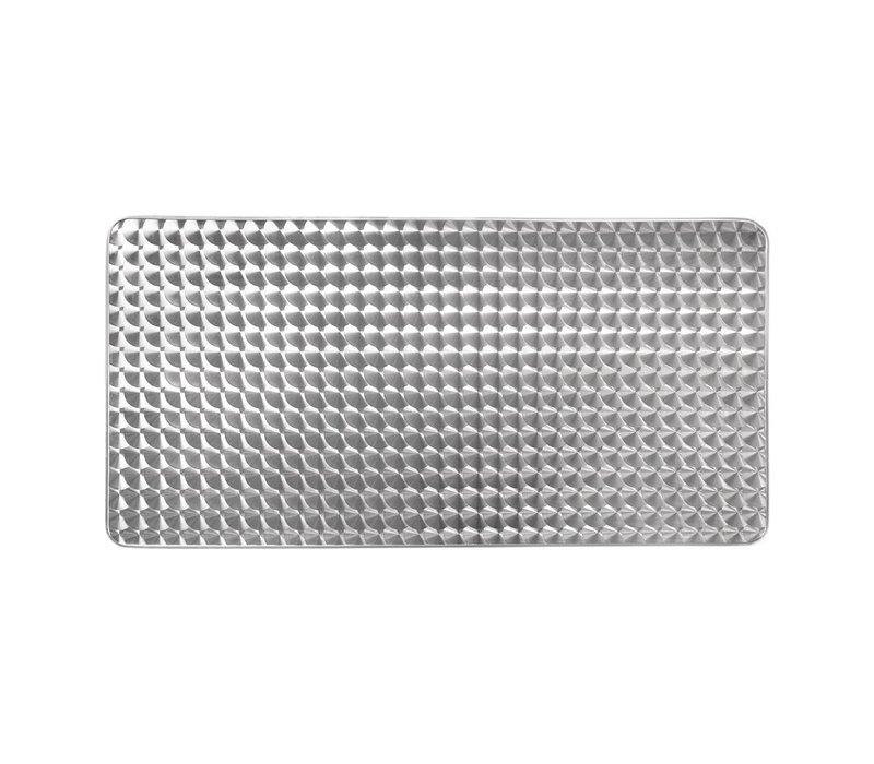 Bolero Horeca Tafel - Aluminium Frame - RVS Bovenblad - 75(H)x120x60cm