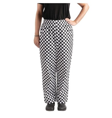 Whites Chefs Clothing Easyfit Chef Pants Black / White Large Loose   Unisex   Available in 6 sizes