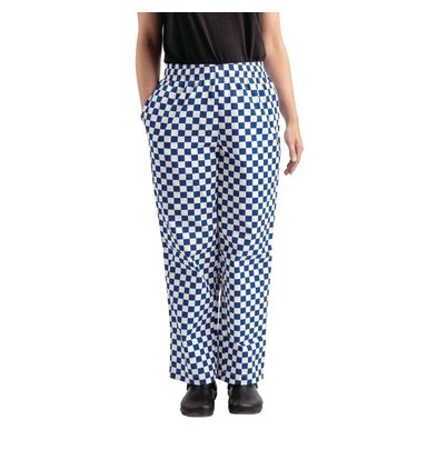 Whites Chefs Clothing Easyfit Chef Pants Blue / White Large Loose   Unisex   Available in 6 sizes
