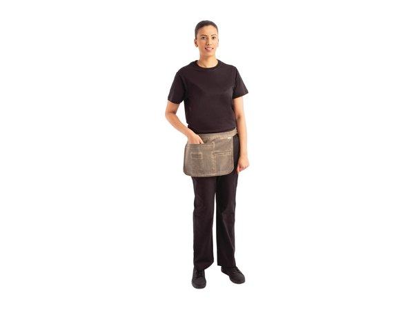 Chef Works Urban Bistroschort Urban Indy Hipster | 100% Katoen | Bruin | 380x280mm