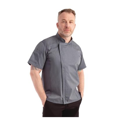 Chef Works Urban Chef's Tube Urban Springfield Unisex | Zipper closure Short Sleeves Ink blue | Available in 5 sizes