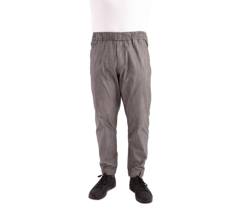 bottom price modern and elegant in fashion best value Chef Works Urban Chef Pants Urban Jogger | Black and White Striped | Unisex  | Available in 4 sizes