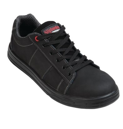Slipbuster Footwear Safety shoes Black | Sporty Model | Non-slip + Steel Nose Available up to size 46