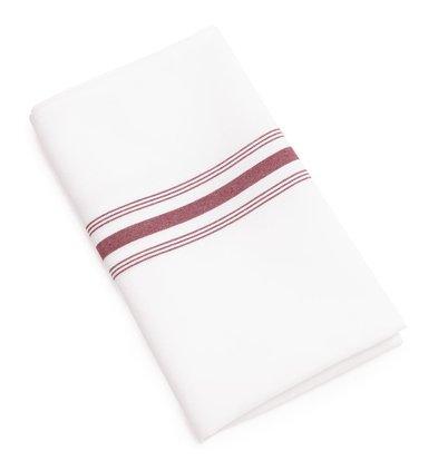 XXLselect Gestreepte Tafelservetten | 100% Polyester | 560x460mm | Per 10 Stuks | Beschikbaar in 2 Kleuren