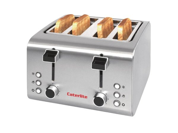 Caterlite Broodrooster RVS  | 4 Sleuven | 1,8 kW | 255x270x(H)190mm
