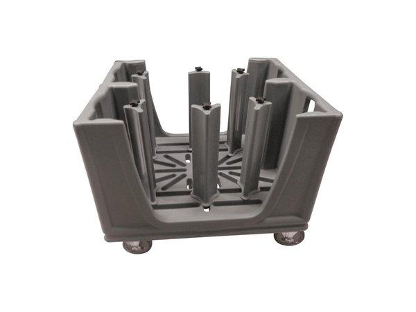 Cambro Verstelbare Servieswagen | Geschikt voor 45 tot 60 Borden Per Stapel | 984x762x(H)902mm