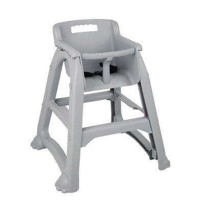 Bolero Grijze Kinderstoel | Stapelbaar | Zithoogte 490mm | 650x560x(H)730mm
