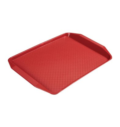 XXLselect Polyprolyleen Fastfood Dienblad Rood | 410x300mm